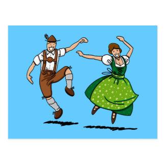 Baile bávaro de los pares de Oktoberfest de la pos Tarjetas Postales