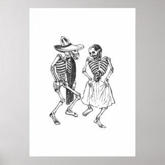 Baile Calaveras Posada Póster