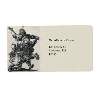Baile campesino de los pares de Albrecht Durer Etiqueta De Envío