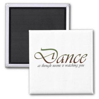 Baile como si imán cuadrado