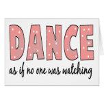 Baile como si nadie esté mirando felicitaciones