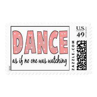Baile como si nadie esté mirando sello postal