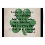 Baile como si:: Proverbio irlandés (ennegrezca el  Tarjetas