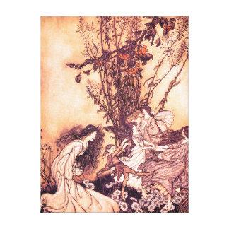 Baile con el ejemplo de Arturo Rackham de las Impresiones En Lona Estiradas