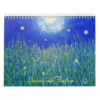 Baile con las luciérnagas calendarios de pared