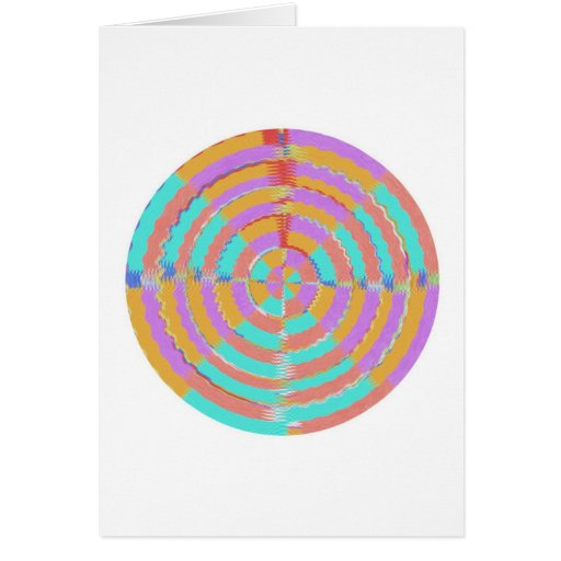 Baile con las ondas tarjeta de felicitación