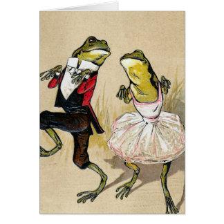 Baile con las ranas tarjeta de felicitación