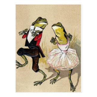 Baile con las ranas postales