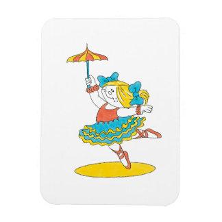 Baile con un paraguas iman rectangular