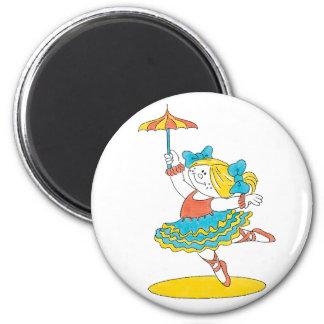 Baile con un paraguas imán redondo 5 cm