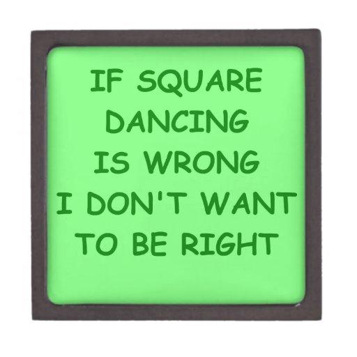 baile cuadrado caja de recuerdo de calidad