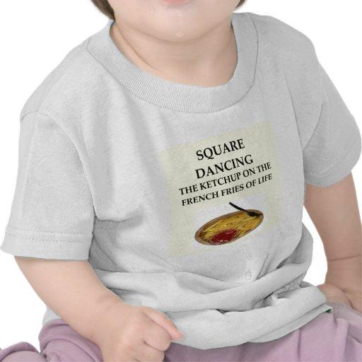 baile cuadrado camisetas