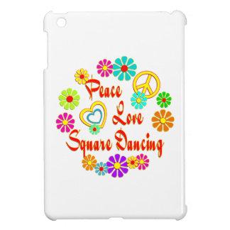 Baile cuadrado del AMOR de la PAZ iPad Mini Cobertura
