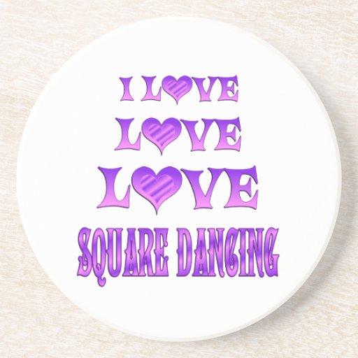 Baile cuadrado del amor del amor posavasos manualidades