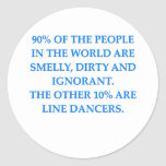 baile cuadrado etiqueta redonda