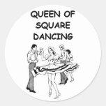 baile cuadrado etiquetas redondas