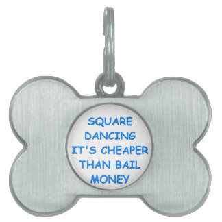 baile cuadrado placas mascota