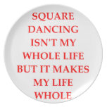 baile cuadrado plato