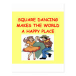 baile cuadrado postal