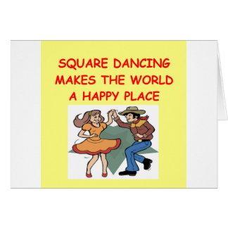 baile cuadrado tarjeta de felicitación