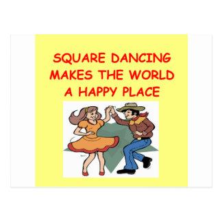 baile cuadrado tarjeta postal