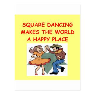 baile cuadrado tarjetas postales