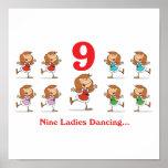 baile de 12 señoras de los días nueve impresiones