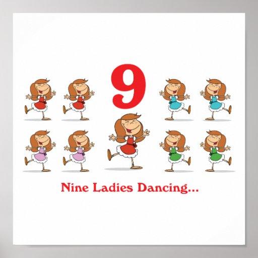 baile de 12 señoras de los días nueve póster