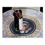 Baile de Barack y de Michelle Obama en la bola Tarjetas Postales