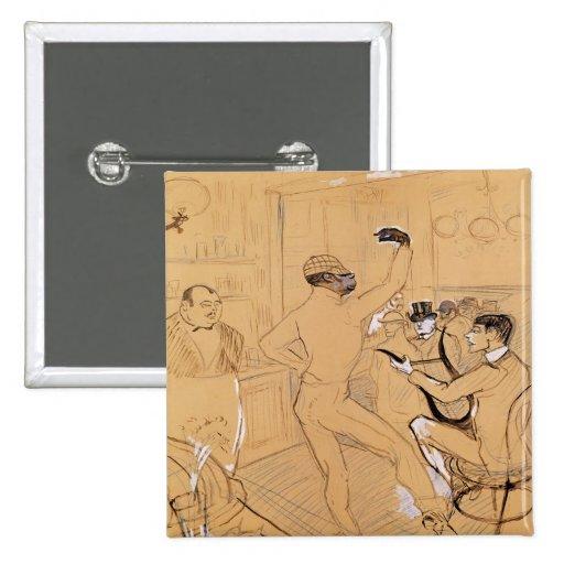 Baile de Chocolat, 1896 Pin Cuadrado