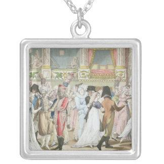 Baile de disfraces en la ópera, después de 1800 colgante cuadrado