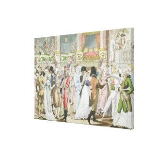 Baile de disfraces en la ópera, después de 1800 lona envuelta para galerias