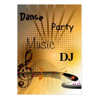 Baile de DJ de la música de la tarjeta de visita