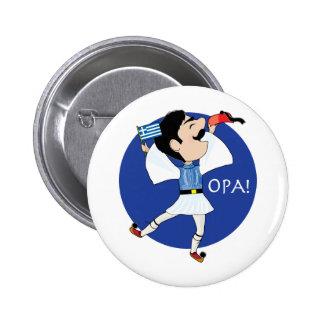 ¡Baile de Evzone del Griego con la bandera OPA! Pins