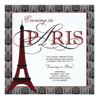 Baile de fin de curso elegante de París de la Invitaciones Personalizada