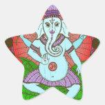 Baile de Ganesh de la paz Pegatina En Forma De Estrella