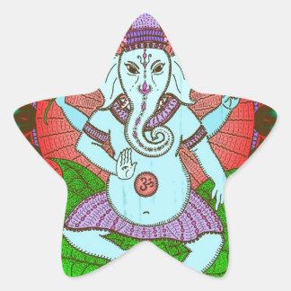 Baile de Ganesh de la paz Colcomanias Forma De Estrella