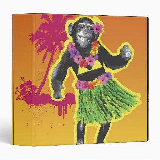 "Baile de Hula del chimpancé Carpeta 1 1/2"""