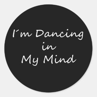 Baile de I´m en mi mente Etiqueta Redonda