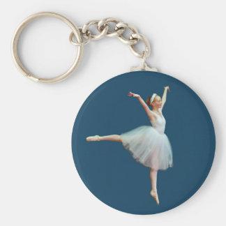 Baile de la bailarina en llavero azul