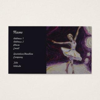 Baile de la bailarina en tarjetas de visita