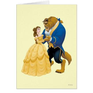 Baile de la belleza y de la bestia tarjeta de felicitación