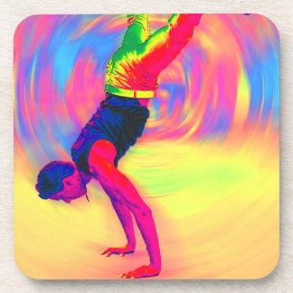 Baile de la calle, arco iris, radial posavasos