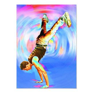 """Baile de la calle, azules/rojos (3), No-Sil't Invitación 5"""" X 7"""""""