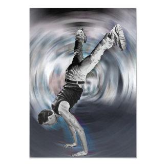 """Baile de la calle - blanco y negro invitación 5"""" x 7"""""""