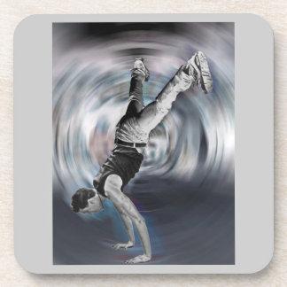 Baile de la calle - blanco y negro posavasos