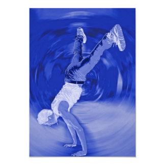 """Baile de la calle - en azul invitación 5"""" x 7"""""""
