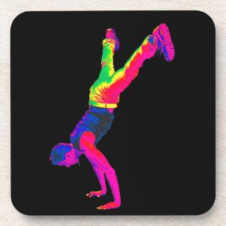 Baile de la calle - multicolor, parte posterior de posavaso