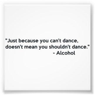 Baile de la confianza del alcohol fotografía