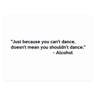 Baile de la confianza del alcohol tarjeta postal